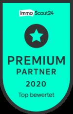 Auszeichnung ImmobilienScout24 Premium-Partner 2020 Top bewertet